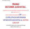 Promo Oktober Daihatsu Karawang 2018